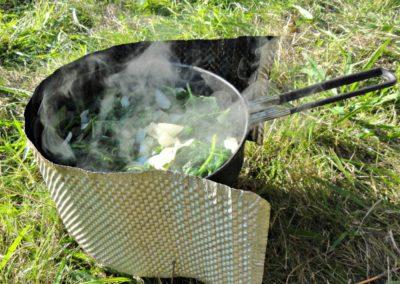 Poêlée d'orties aux oignons