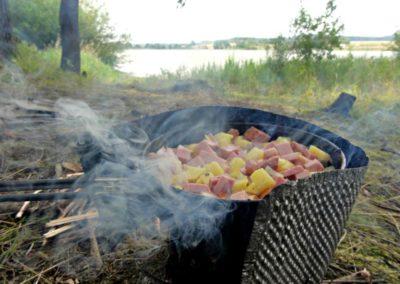 Pommes de terre, oignons & jambon... Pas mal !